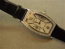 1292: AFFINITY DIAMONDS QUARTZ WRISTWATCH -STERLING