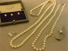4350 GROUP OF CULTURED PEARL JEWELRY ITEMS