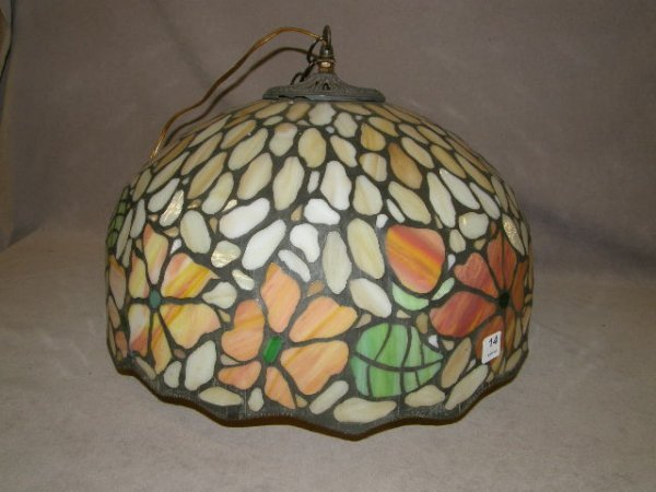 5014: STAINED GLASS HANGING FIXTURE