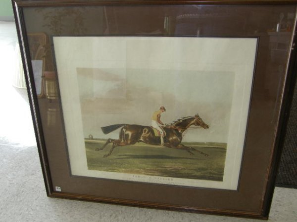 5306: FRAMED HUNT LITHOGRAPH DATED 1844
