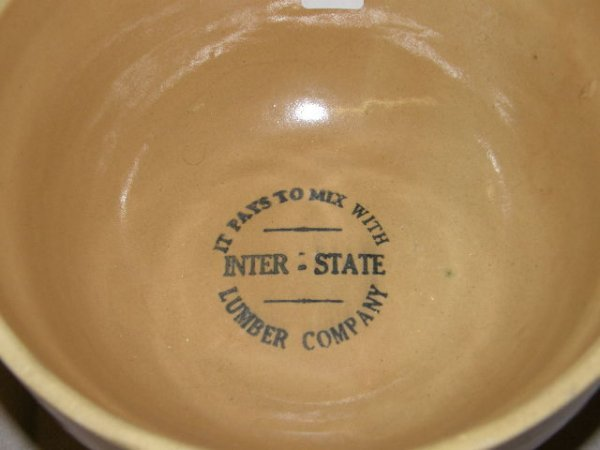 3207: INTERSTATE LUMBER COMPANY POTTERY BOWL
