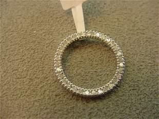 10K GOLD DIAMOND CIRCLE PENDANT