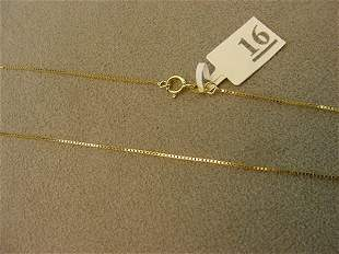 1 24 INCH 14K GOLD BOX LINK CHAIN