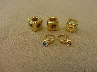 5 ASSORTED 14K GOLD CHARM OR PENDANTS