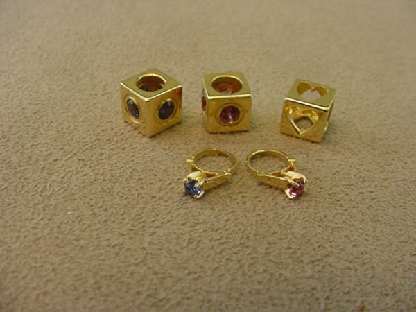 3017: 5 ASSORTED 14K GOLD CHARM OR PENDANTS