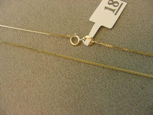 3018: 1 24 INCH 14K GOLD BOX LINK CHAIN