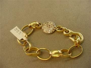3338: 18K GOLD WHITE/BROWN DIAMOND BRACELET -POMELLATO