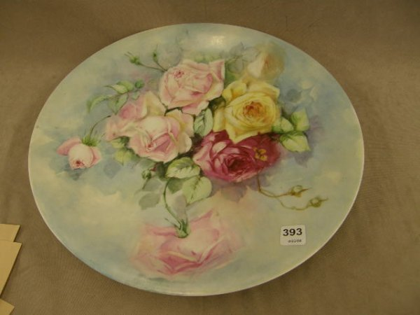 4393: HANDPAINTED LIMOGES CHARGER