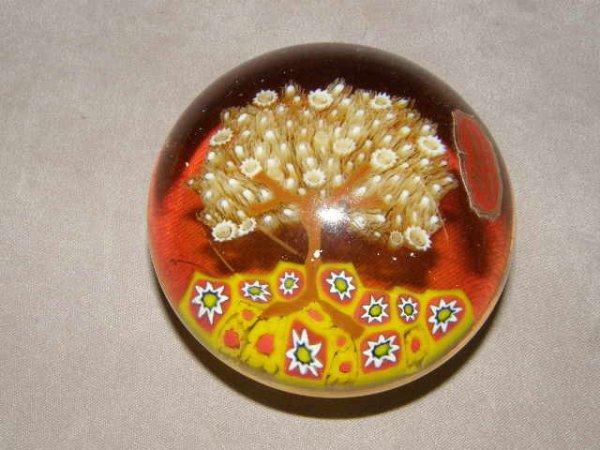 5234: TREE DESIGN MURANO ART GLASS PAPERWEIGHT