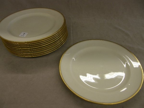 7007: 11 LENOX TIFFANY & CO. GOLD DECORATED PLATE