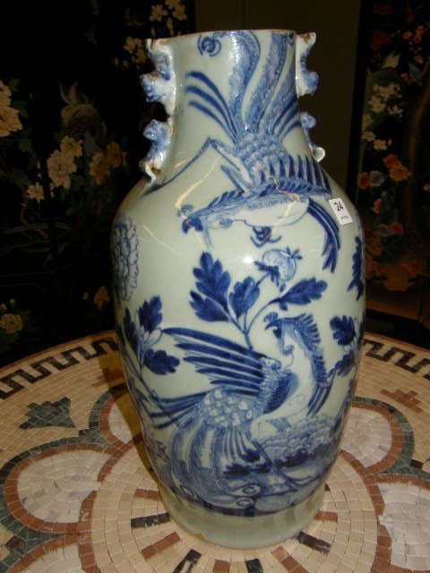 7024: ORIENTAL PORCELAIN VASE - CUT DOWN