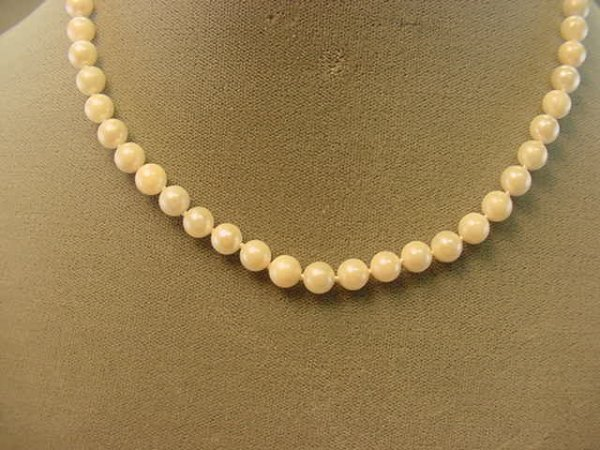 """1009: 16"""" STRAND CULTURED PEARLS WITH 14K GOLD CLASP"""