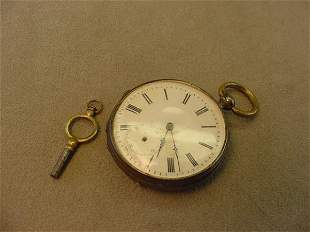 ANTIQUE KEY WIND POCKETWATCH -AS/IS