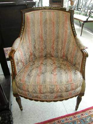 UPHOLSTERED SIDE CHAIR WITH PAINTED TRIM