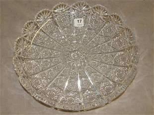 CUT GLASS SHALLOW BOWL
