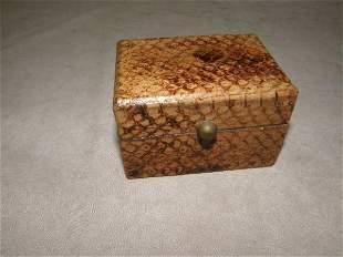 SMALL SNAKE SKIN COVERED BOX