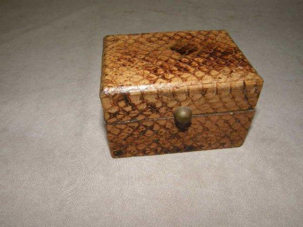 2014: SMALL SNAKE SKIN COVERED BOX