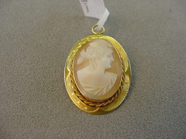 3001: CARVED SHELL CAMEO IN PIN/PENDANT MOUNT