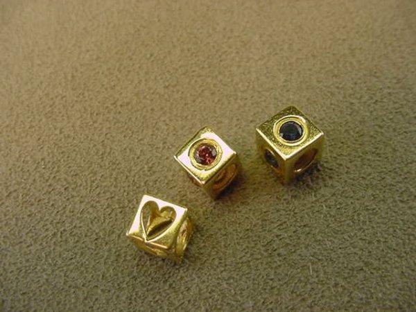 3014: 3 14K GOLD SLIDE PENDANTS OR CHARMS