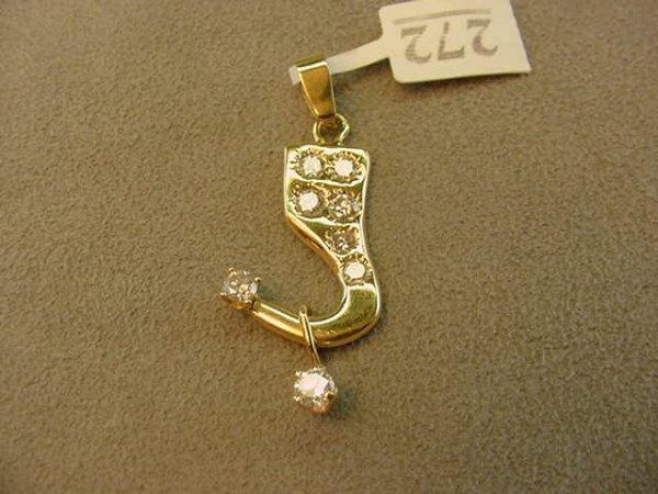 3272: 14K GOLD DIAMOND PENDANT