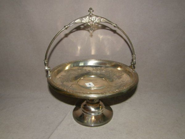 VICTORIAN SILVERPLATED HANDLED BASKET