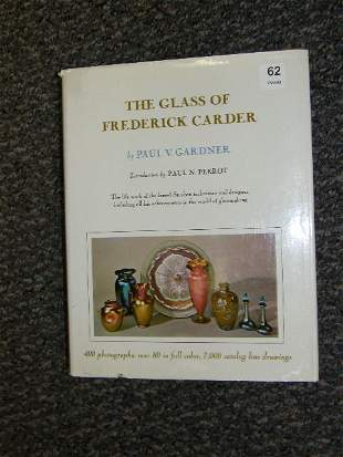 BOOK: THE GLASS OF FRENDERICK CARDER -AUTOGRAPHED