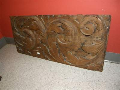 4493: CARVED WOOD PLAQUE