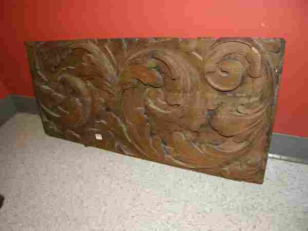 CARVED WOOD PLAQUE