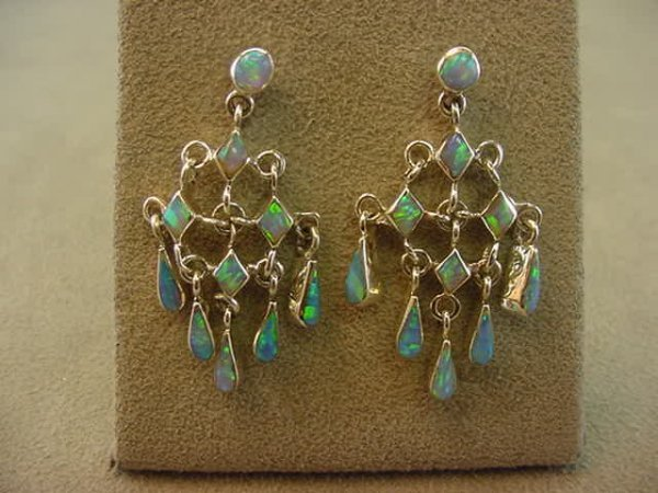 5021: STERLING EARRINGS SET WITH OPALS