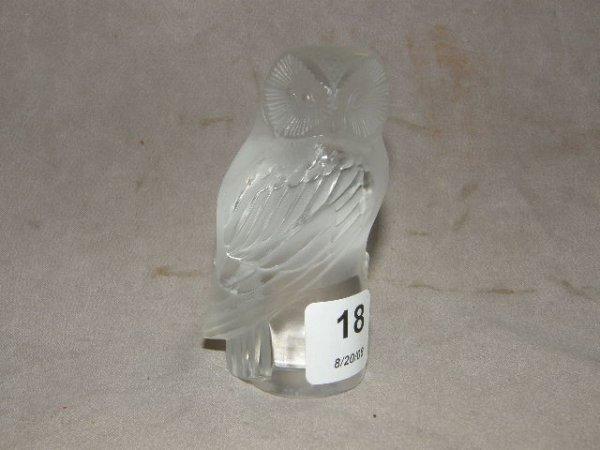 6018: LALIQUE OWL FIGURE