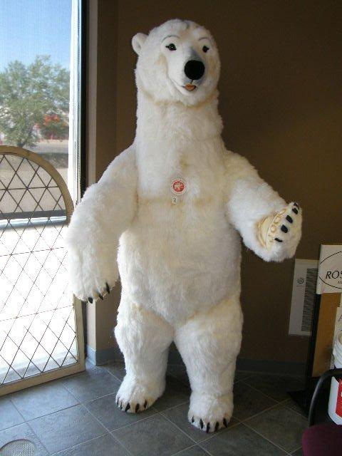 7275: RARE 7 FOOT TALL STEIFF STANDING POLAR BEAR