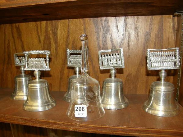 7208: GROUP OF COLLECTIBLE BELLS