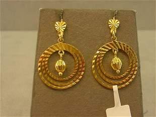 18K GOLD PIERCED EARRINGS