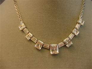 STERLING CUBIC ZIRCONIA NECKLACE