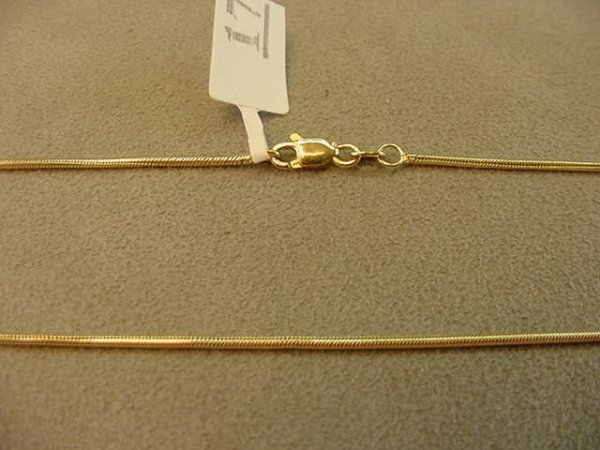 8017: 1 20 INCH 14K GOLD SNAKE CHAIN-- HAS BEEN WORN