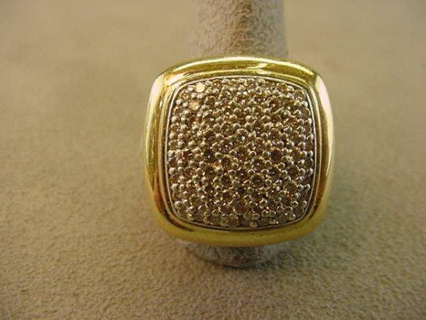 2240: DAVID YURMAN STERLING & 18K DIAMOND RING