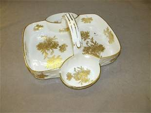 GOLD DECORATED HAMMERSLEY TRAY