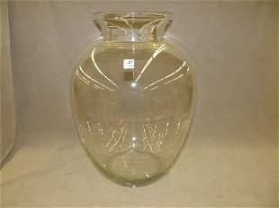 LARGE GLASS VASE -CHIP TO RIM