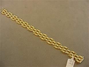 1 7 1/2 INCH 14K GOLD BRACELET-- 1/2 INCH WIDE