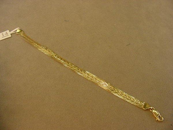 5014: 14K GOLD BRACELET