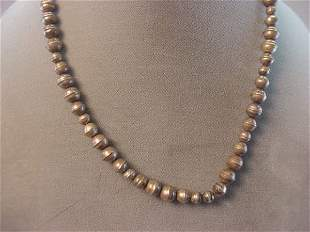 INDIAN SILVER BEAD NECKLACE