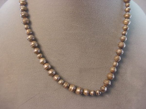 5021: INDIAN SILVER BEAD NECKLACE