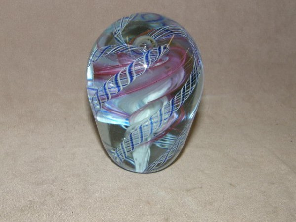 6013: ART GLASS PAPERWEIGHT -MARKED OBG