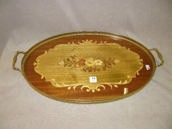 6014: INLAID SERVING TRAY