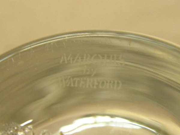 6081: 2 MARQUIS BY WATERFORD VASES -1 AMBER, 1 CLEAR - 2