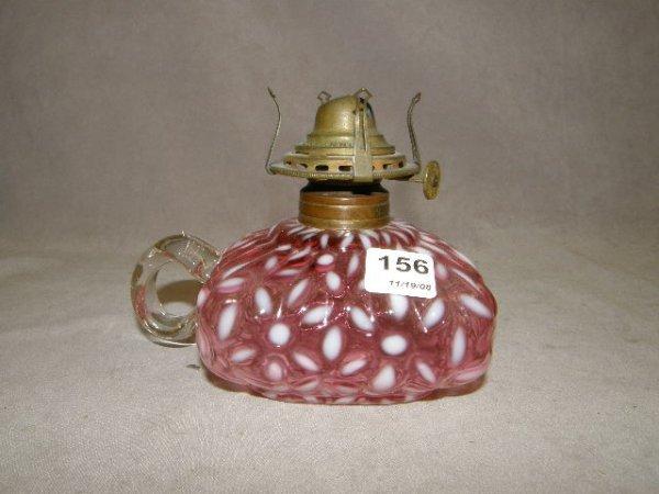 6156: CRANBERRY GLASS FINGER LAMP