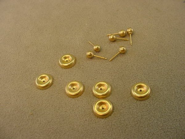 7619: 3 PAIR 14K GOLD STUDS AND GOLD JACKETS