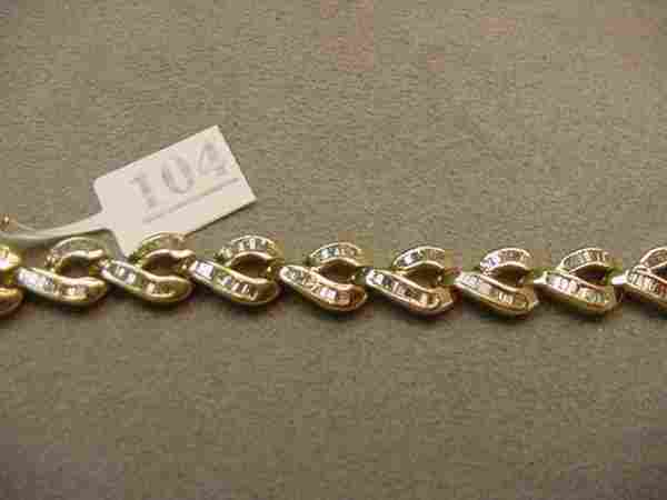 14K BAGUETTE DIAMOND BRACELET -4 CT TW