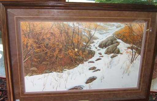 2216 Framed Bev Doolittle Print Double Back