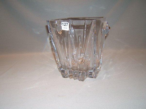 2127: HEAVY LENOX GLASS ICE BUCKET